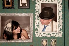 """Frame for a wedding photo booth. A DIY! The """"fancy carved wood"""" which isn't carved wood nor really too fancy. Wedding Photo Booth, Wedding Photos, Wedding Ideas, Party Gifts, Wedding Decorations, Collage, Carving, Fancy, Paper"""