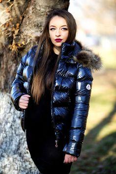JOLINA Edel Glanz Steppjacke Gr. L 40 Lack Jacke Damen