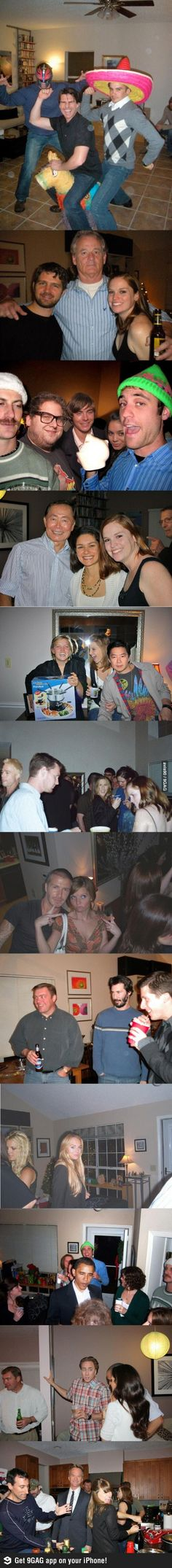 This guy used photoshop for his party