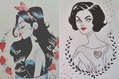 As ilustrações femininas de Sibylline Meynet