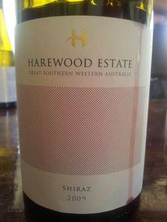 #HarewoodEstate #Shiraz 2009  (#RNAWA13)