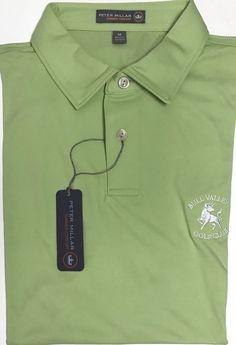 NEW Peter Millar E4 Summer Comfort Green Bull Valley Golf Club Polo Shirt Size M  | eBay