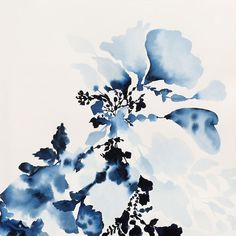Absolutely gorgeous! jengarrido.com (Indigo Rock - 10, 2013, watercolor on paper, 17.5 x 17.5)
