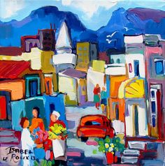 Artwork of Isabel le Roux exhibited at Robertson Art Gallery. Original art of more than 60 top South African Artists - Since Acrylic Paintings, Landscape Paintings, South African Artists, People Art, Cityscapes, Islands, Whimsical, Original Art, Abstract Art
