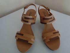 2ac8fb5dbf2c CLARKS WOMEN S STACK HEEL SLINGBACK SANDAL SZ 8.5 MEDVERY CLEAN  fashion   clothing  shoes