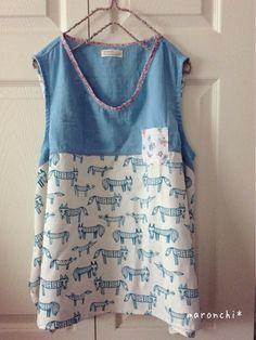 maronchi* 「夏の旅じたく」に作ったお洋服たち