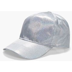 d80b9aa800f Boohoo Freya Holographic Baseball Cap ( 8) ❤ liked on Polyvore featuring  accessories