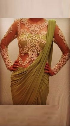 Saree Jacket Designs, Netted Blouse Designs, Bridal Blouse Designs, Blouse Neck Designs, Dress Designs, Sari Bluse, Net Saree Blouse, Saree Gown, Lehenga