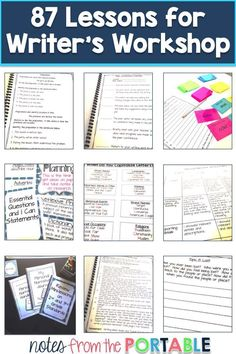 So many great ideas, lessons, and activities for Writer's Workshop!  Love this.  Have most of my year planned!