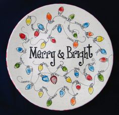 from Color Me Mine Norfolk www.norfolk.colormemine.com Easy Christmas Ornaments, Cheap Christmas Gifts, Diy Holiday Gifts, Christmas Art, Painted Pottery, Paint Your Own Pottery, Painted Plates, School Auction Projects, Auction Ideas