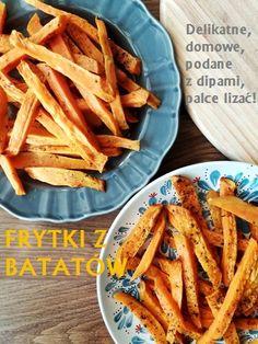 Frytki z batatów Tzatziki, Carrots, Snacks, Dinner, Vegetables, Food, Gastronomia, Dining, Appetizers