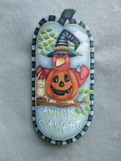 Just couldn't resist painting one more Halloween thing....unpublished, of course.