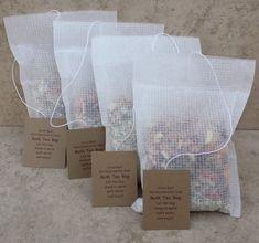 Four Bath Tea Bags, mix or match. Four Bath Tea Bags, mix or match. Diy Tea Bags, Tea Packaging, Packaging Ideas, Bath Bomb Packaging, Bath Boms, Pot Pourri, Bath Tea, Bath Salts, Herbalism