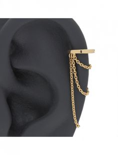5 16 Plain Ring With 3 Chain Helix Ear Cartilage