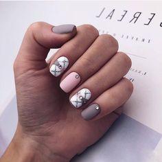 Matte Nails, Manicure, Hair Beauty, Nail Art, Finger Nails, Gray Nails, Nail Decorations, Style, Decorations