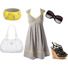 Super cute outfit for Summer! (..minus the shoes.. Any type of heel/wedge puts me over 6 feet tall & I feel like even more of a giant!) lol
