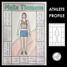 Template to create an athlete profile. Add features and clothing to the body outline and write information about the athlete in the boxes around the outside.3 Templates: (all shown in images above)Neutral body outlineFeminine body outlineMasculine body outlineWrite headings in the information boxes... Writing Outline, Body Outline, Tokyo 2020, Teacher Notes, Olympic Games, Physical Education, Teacher Resources, Olympics