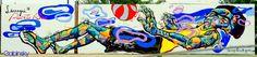 22 de julio de 2014, Graffitti Larregui 13, Paseo Cesar Concepción de Gracia, frente al muelle y el Capitolio Plaza Bldgs. San Juan, Puerto Rico
