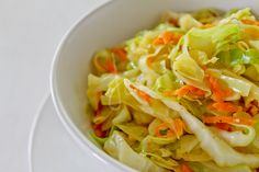 Sauteed Cabbage and Carrots-- I used to make this all the time when I was vegan. Tasty with a touch of pepper.