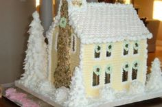 Gingerbread Yellow and White