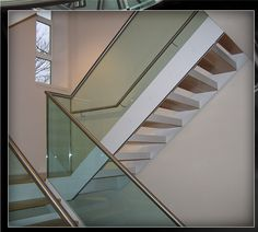 Frognal Way Project - Glass Balustrade - Stainless Steel Handrails