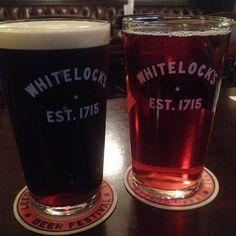 Beer and Cider with dinner at Whitelock's Leeds UK #travel #beer #cider #food #leeds #uk #drink