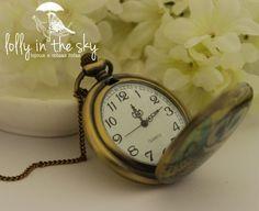 Relógio de Bolso - Corujita - Lolly in the Sky Pocket Watch Owl =)  loja.lollyinthesky.com.br