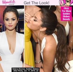 Selena Gomez's Hair At Golden Globes After Party — Sexy Ponytail - Hollywood Life