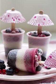 Balhétterem: Gyümölcsös jégkrém nyalóka Frozen Yogurt, Fudge, Panna Cotta, Sweet Treats, Ice Cream, Pudding, Sweets, Cooking, Ethnic Recipes