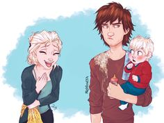 Elsa, Hiccup, and Briar.