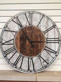 Farmhouse Style Wooden Pallet Clock by FarmhouseClocks on Etsy