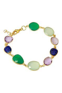 18K Gold Clad Multi-Gemstone Bracelet on HauteLook
