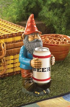 Gnome Statue Solar Flower Pot Sign Garden Lawn Yard Decoration Decor