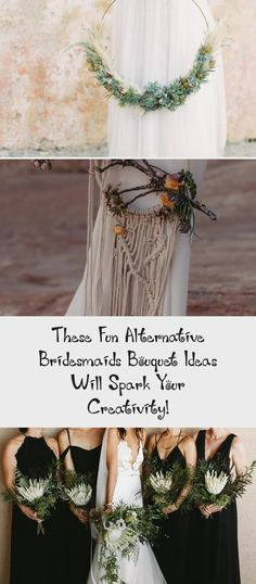 These Fun Alternative Bridesmaids Bouquet Ideas Will Spark Your Creativity! - Green Wedding Shoes #CasualBridesmaidDresses #BridesmaidDressesMint #VelvetBridesmaidDresses #OrangeBridesmaidDresses #RedBridesmaidDresses