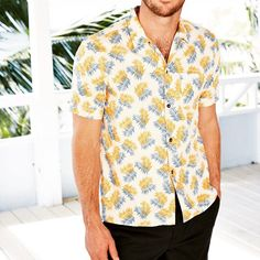 Walk into a room with this on and you're bound to grab some attention!  Get your statement summer shirt through the link in our bio. #mensfashion#men#summer #shirt #mellowyellow