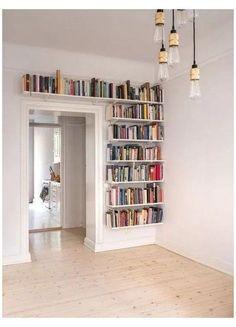 Bookshelves For Small Spaces, Unique Bookshelves, Bookshelf Design, Furniture For Small Spaces, Bookshelf Ideas, Bookshelf Decorating, Decorating Ideas, Decor Ideas, Library Shelves