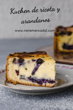 Ricotta and blueberry Kuchen - Tea time - Irene Mercadal - This fresh and delicious blueberry kuchen is a classic Do you want to prepare it? Argentina Food, Cheesecake, Bunt Cakes, Dessert Recipes, Desserts, Kitchen Recipes, Coffee Cake, Yummy Cakes, No Bake Cake