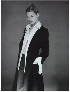 La chemise blanche, un intemporel. Kate Moss