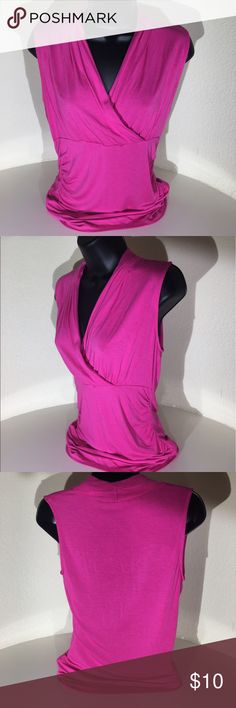 Fuscia crossover Soft Knit Cami Size Small Fuscia colored Soft Knit Cami Top in a size Small. Crossover v-neck styling. Perfect for Spring and summer to wear alone or under jackets or sweaters. Cable & Guage Tops Blouses