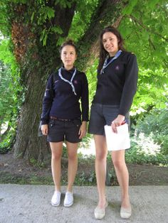 SUdF Ranger Guides in France. These girls were spotted and their photo taken for a fashion blog!