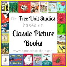 Homeschool Share has FREE Unit Studies based on classic picture books. Just find your favorite and get started! Here's FHD's big list of free homeschool unit studies! Author Studies, Unit Studies, Homeschool Curriculum, Homeschooling, Homeschool Books, Five In A Row, Library Lessons, Art Lessons, Book Study