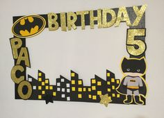 Batman birthday. Batman Photo booth Frame. batman photo Frame prop. superheroes birthday. batman party decoration. superheroes party frame by aldimyshop on Etsy https://www.etsy.com/listing/491482811/batman-birthday-batman-photo-booth-frame