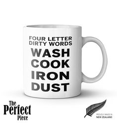 Four Letter Dirty Words  Wash Cook Iron Dust by PerfectPieceShop