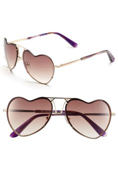 Rose gold heart  sunglasses! Everything I always wanted!House of Harlow 1960 'Annie' 59mm Sunglasses available at #Nordstrom