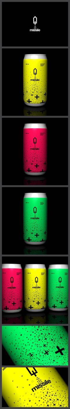 Missile Energy Drink Like the vibrant, energetic, neon colours