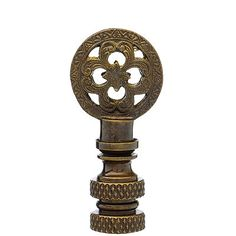 ANTIQUE BRASS FILAGREE FINIAL 1 7/8
