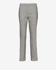Theory Thaniel Crop Pant: Grey: Seamlessly transition from office to off duty with these slim-fit pants. Banded waist. Faux fly. Side slash pockets. In grey.   Fabric: 63% linen/35% viscose/2% elastane  Lining: 100% polyester  Model Measurements: Height 5'10; Waist 25 ; Bust 34 wearing ...