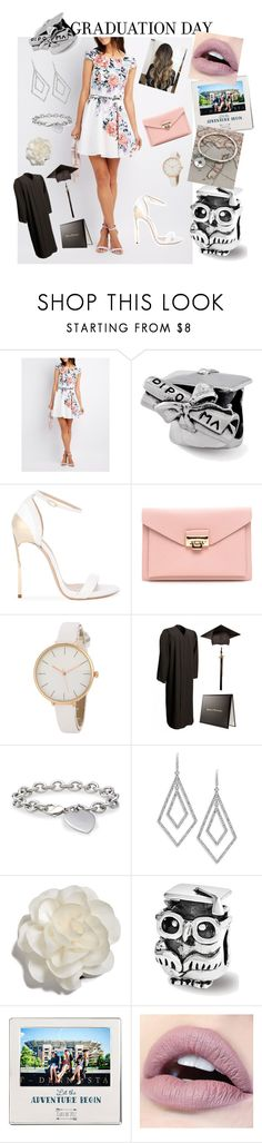 """""""Graduation 👨🎓"""" by hamsi-ruby ❤ liked on Polyvore featuring Charlotte Russe, Casadei, Blue Nile, ABS by Allen Schwartz, Cara and Cathy's Concepts"""