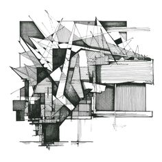 Arts architecture drawing sketchbooks, architecture sketchbook et architect Architecture Drawing Sketchbooks, Architecture Collage, Architecture Portfolio, Facade Architecture, Abstract Drawings, Deconstruction, Oeuvre D'art, Les Oeuvres, New Art