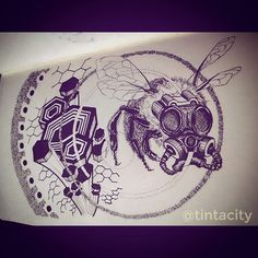 Day 9: I just wanted to draw a Bee with a f'in gas mask, is all! #daily #drawing #doodle #365days #eddc #uniPIN #ink #pen #weird #surreal #tattoo #bnginksociety #imaginariart #imaginationarts #instaart #instartist_ #instadraw #theartshed #artFido #arts_help #artistsmuseum #worldofartists #art_quality #artofdrawing #spotlightonartists #Art_Spotlight #artmagazine #artsanity #arts_gallery #iblackwork